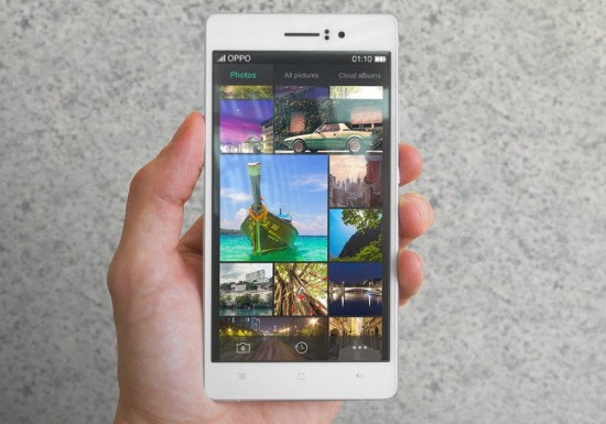 oppo r5 550x385 Oppo a lansat R5 cel mai subtire smartphone din lume