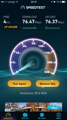 2,4GHz la 20 de metri de router