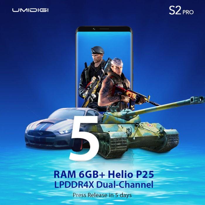 UMIDIGI S2 Pro - smartphone cu MediaTek Helio P25 și 6 GB RAM DDR4X optimizat pentru gaming (P)