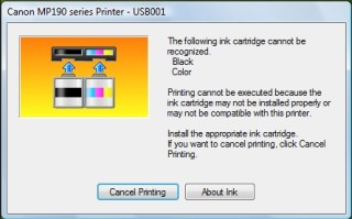 Cara mengatasi error printer catridge cannot be recognized