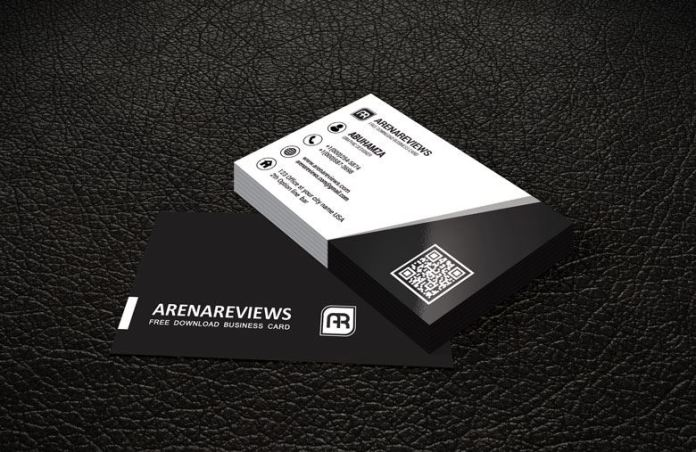 Black white corporate business card template free black white corporate business card template reheart Gallery