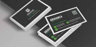 Black and Green Corporate Business Card