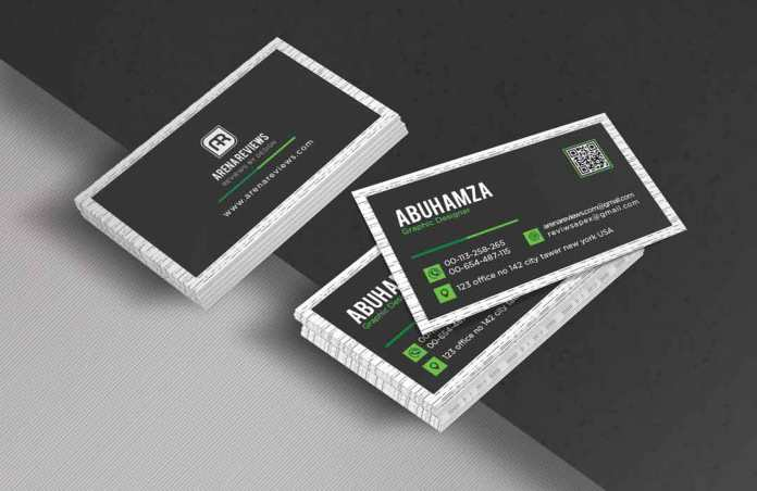 Black green corporate business card template download free black and green corporate business card accmission Image collections