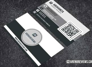 Modern Black and White Minimalist Business Card Design