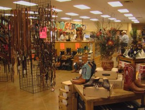 Inside Saddle Shop