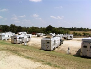 RV Parking Behind Stalls