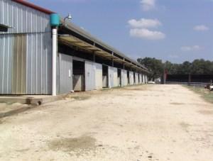 Back of stall barn