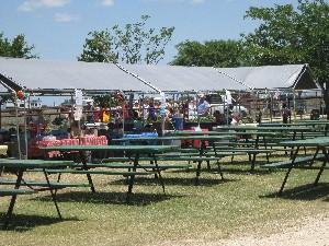Vendor area with vendors