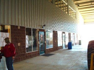 More offices and indoor vendor area