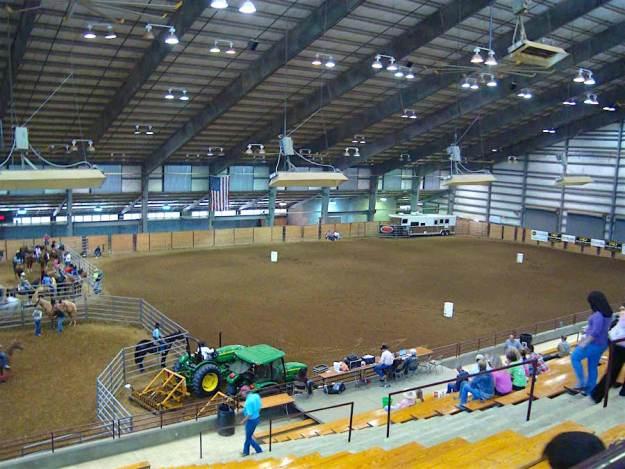 Arena Set up for barrel race