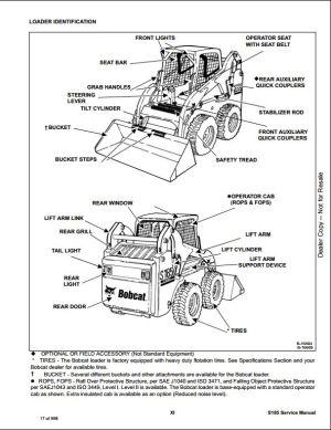 Bobcat S185 Skid Steer Loader Service Repair Workshop