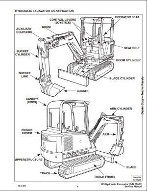 Bobcat X325 Mini Excavator Service Repair Workshop Manual 511820001 | A Repair Manual Store