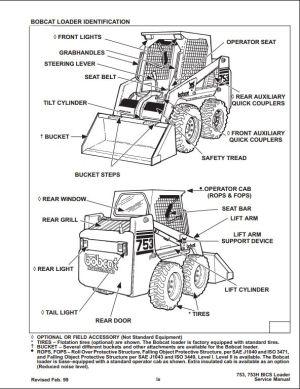 Bobcat 753 Skid Steer Loader Service Repair Workshop Manual 515830001516211001 | A Repair
