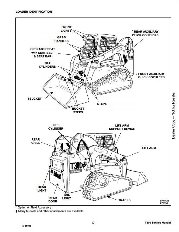 Bobcat T300 Compact Track Loader Service Repair