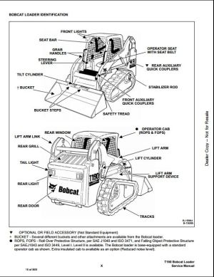 Bobcat T190 Turbo High Flow Track Loader Service Repair Workshop Manual 519311001519411001 | A
