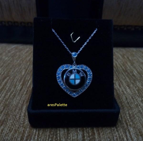 bmw love necklace bmw blau bmw halskette 2