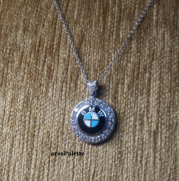 bmw necklace bmw halskette swarovski 5 min