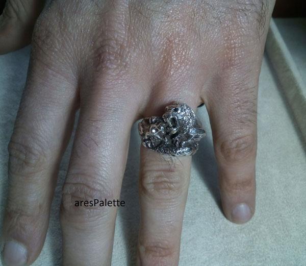 lion ring men ring lion handmade silver ring 10