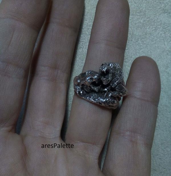 lion ring men ring lion handmade silver ring 2