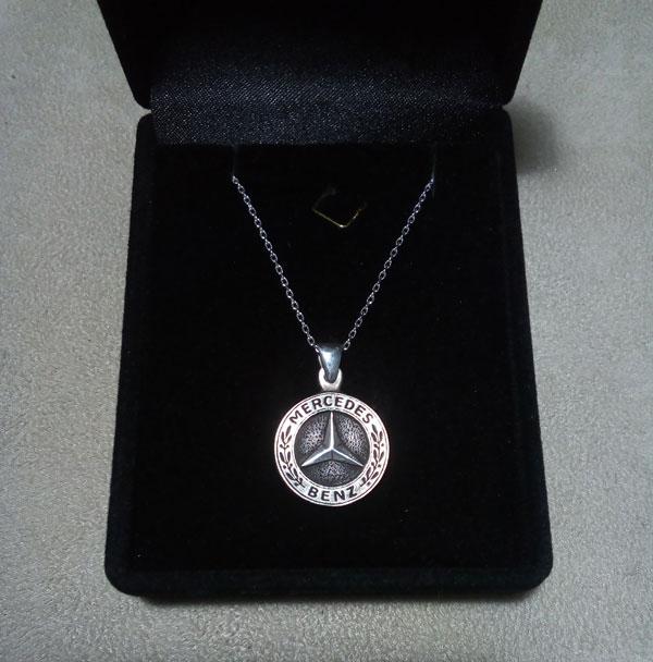 mercedes benz necklace mercedes pendant  mercedes halskette   arespalette 6