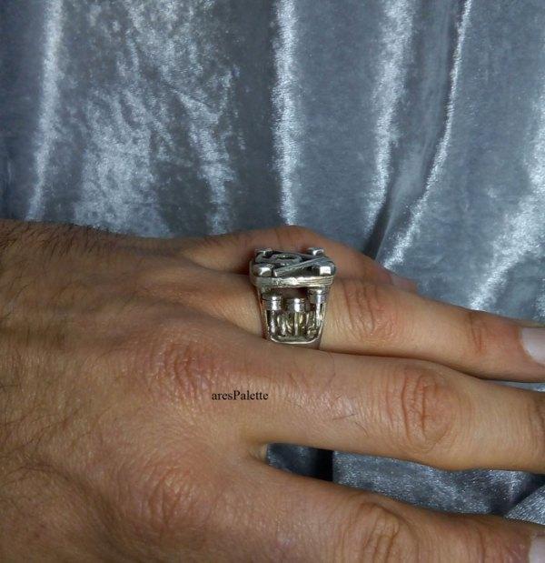 v6 ring v6 engine  v6 engine ring men rings muscle cars car jewelry   arespalette 11