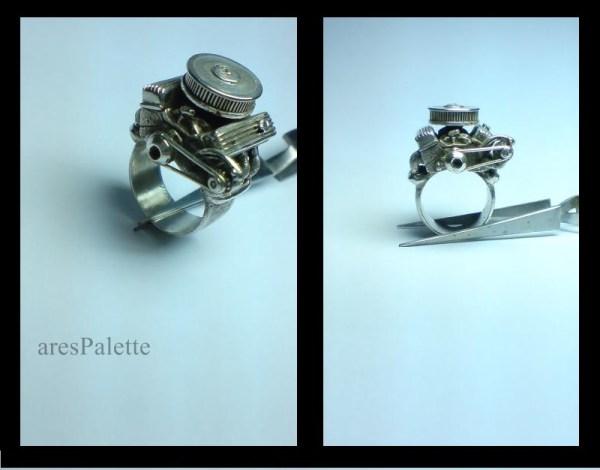 v8 engine ring handmade big block