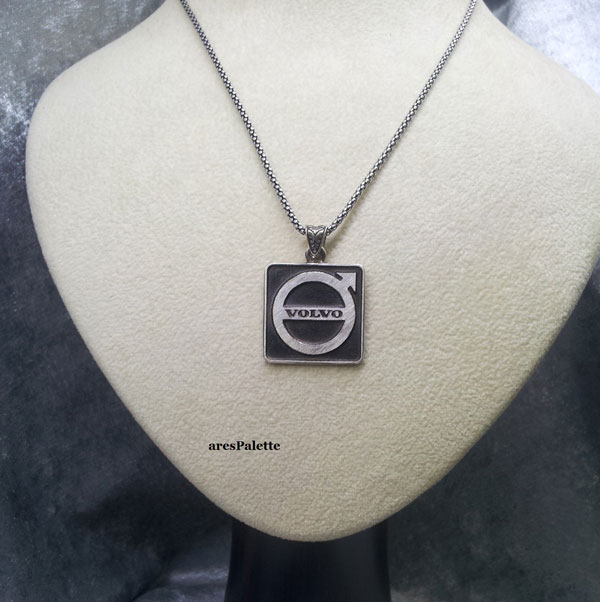 volvo silver necklace volvo collier volvo halskette car jewelry arespalette3