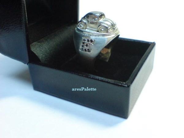 vw beetle customized ring 925 25