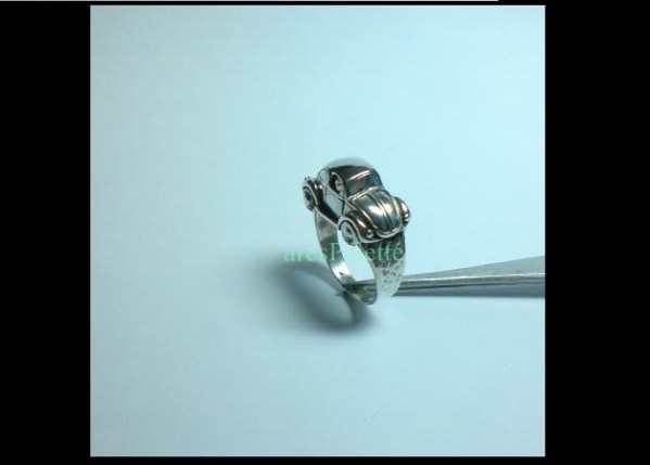 vw beetle ring 925 silver 2