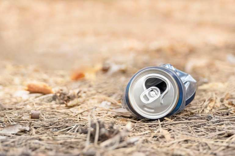 soda can on ground