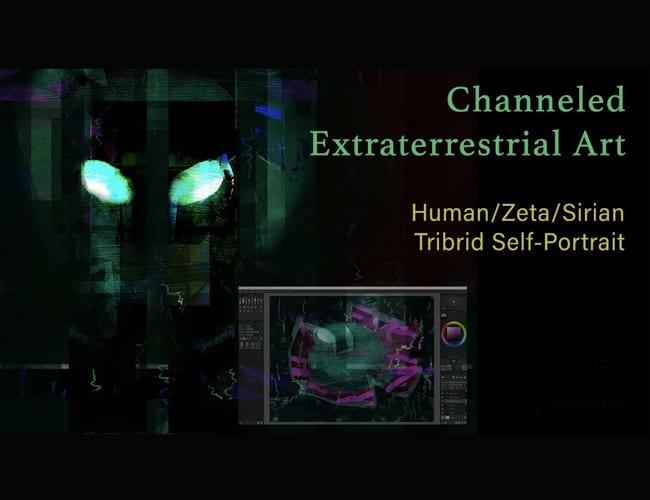 Tribrid Self-Portrait – Channeled Extraterrestrial Art Creation