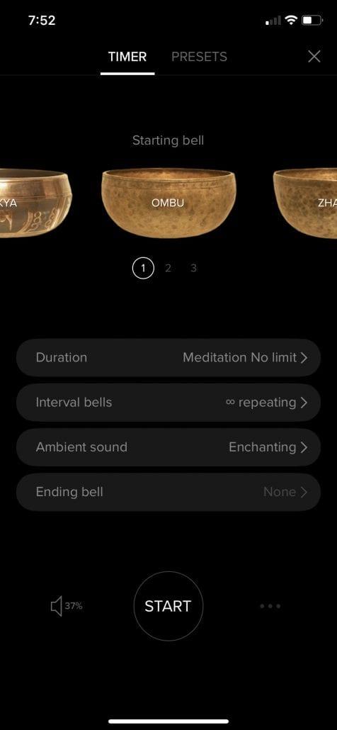 Insight Timer interface
