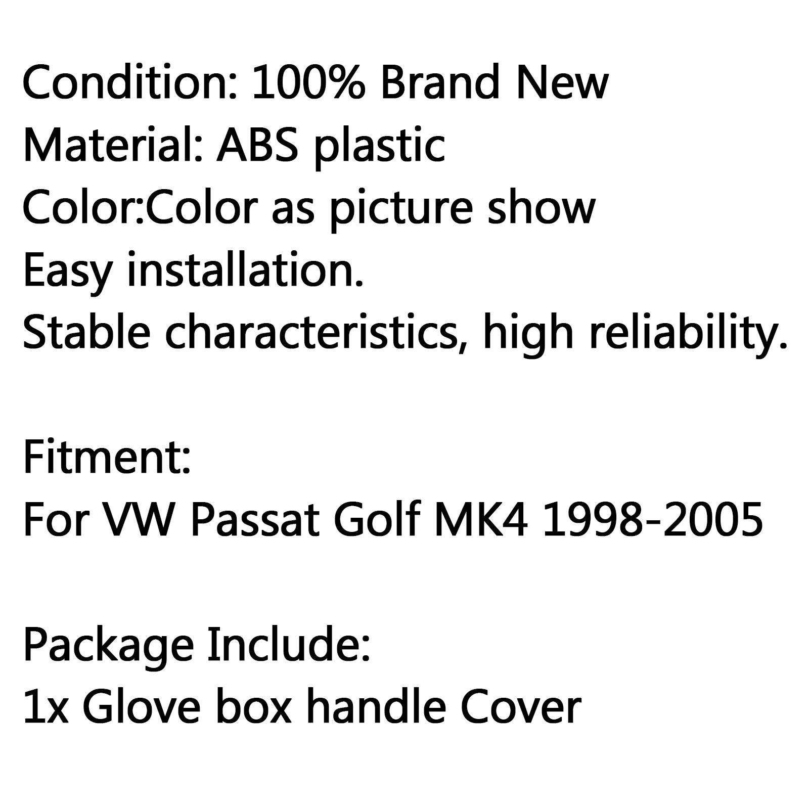 New Car Glove Box Cover Handle Lock Hole For Vw Passat