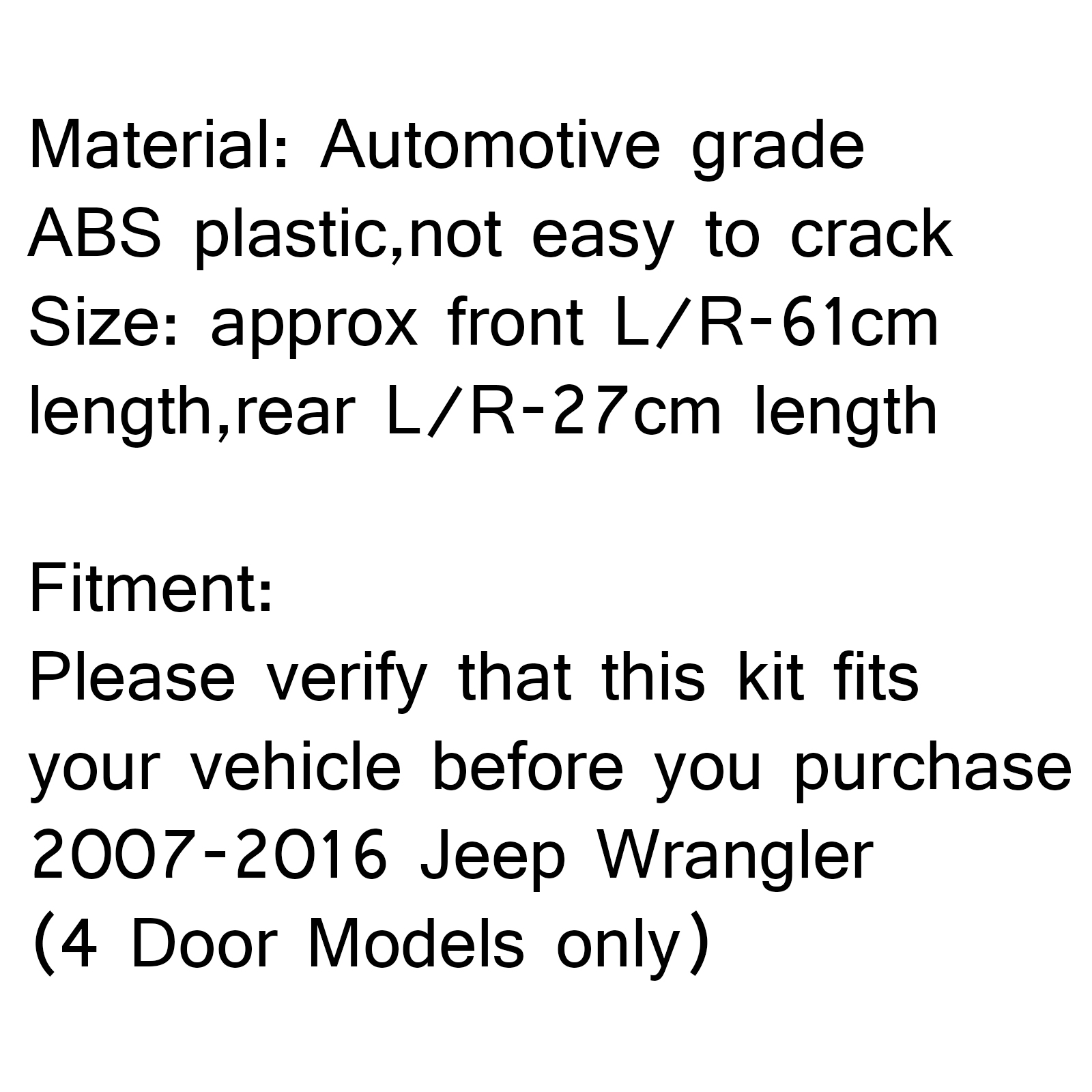 Jeep Logo Entry Sill Guards For Jeep Wrangler Jk 4 Door 4d Black Abs