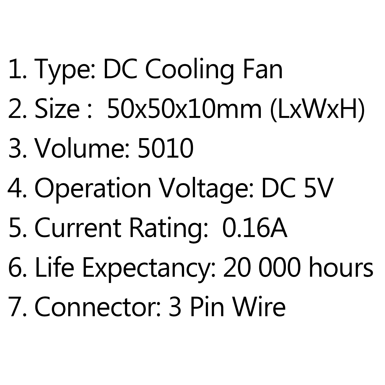 1pcs Dc Brushless Cooling Pc Computer Fan 5v
