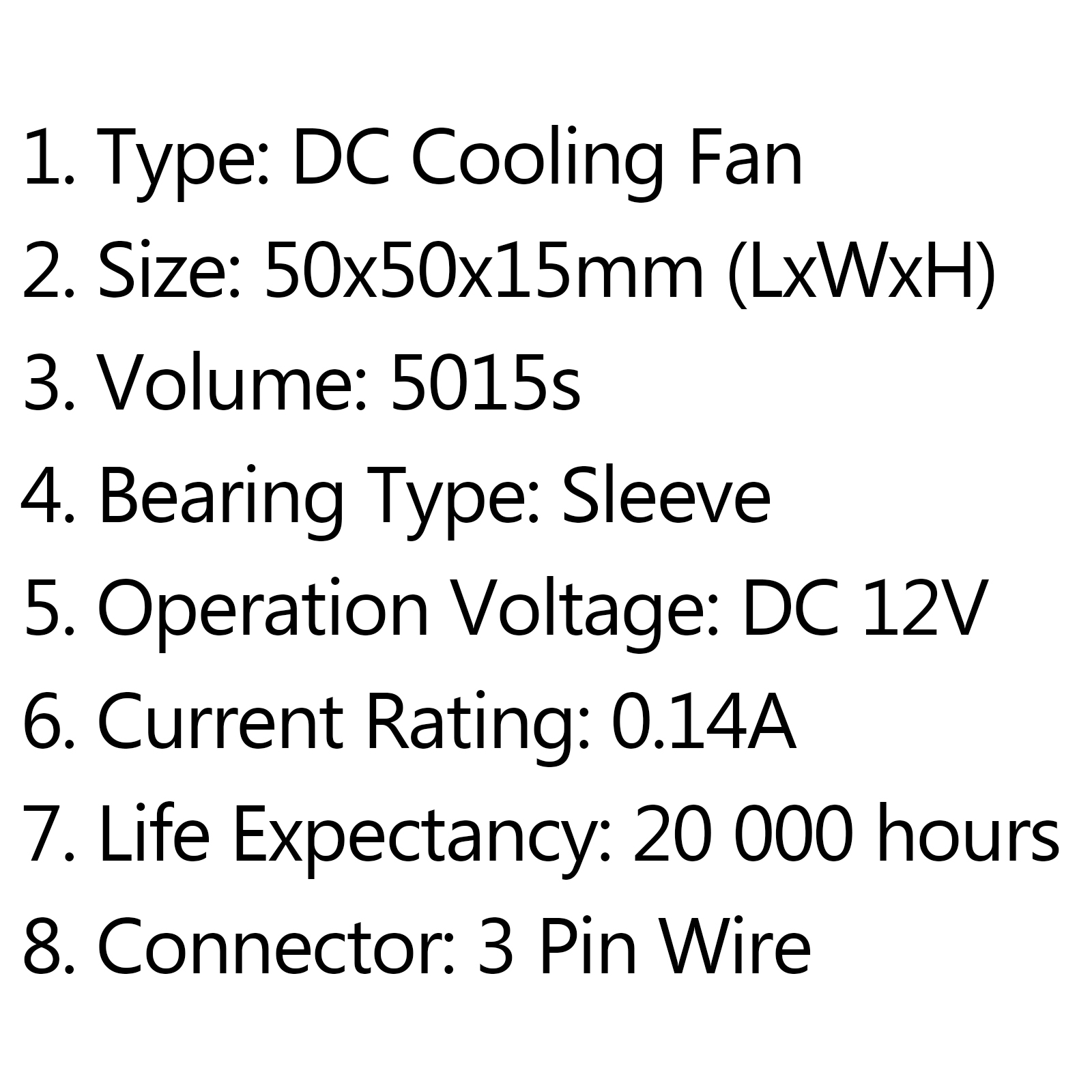 Dc Brushless Cooling Pc Computer Fan 12v S 50x50x15mm 0 14a 3 Pin Wire C