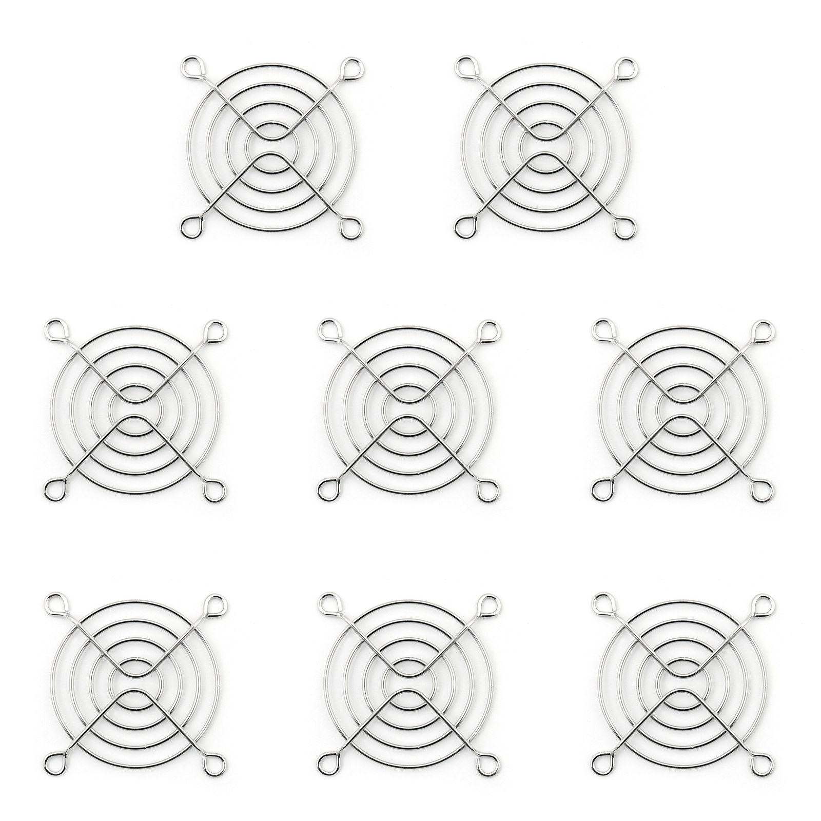 8pcs 60mm Iron Net Fan Cover Cpu Fan Grill Computer
