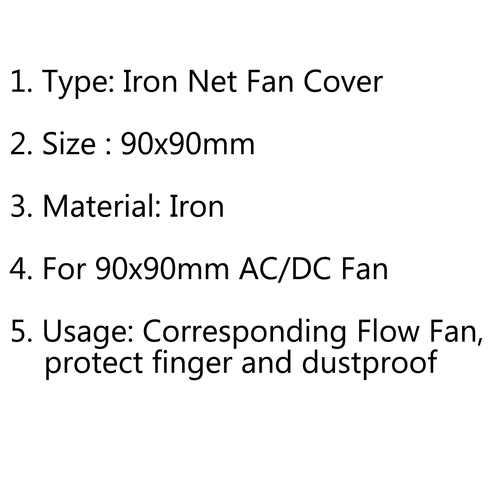 8pcs 90mm Iron Net Fan Cover Cpu Fan Grill Computer