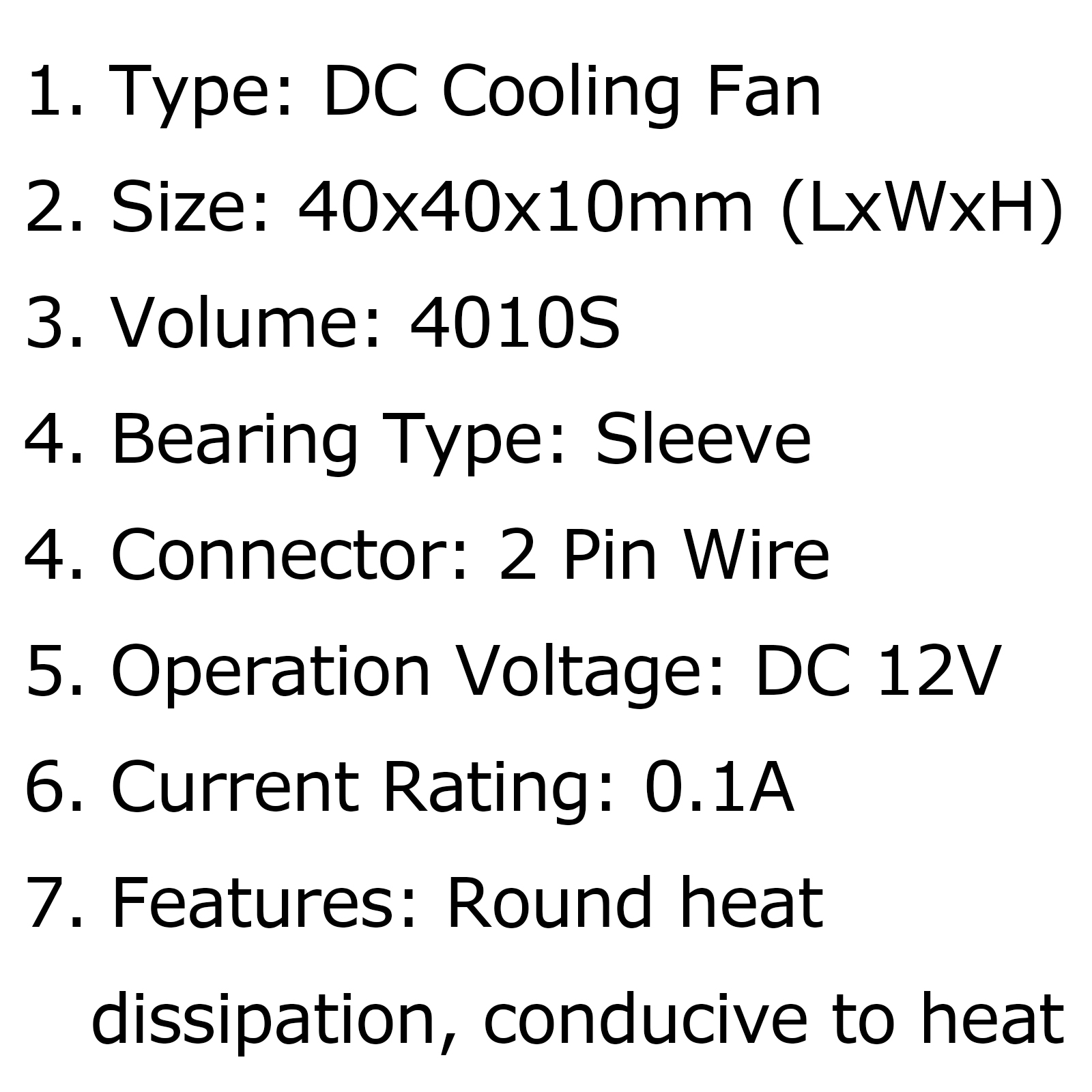 Brushless Cooling Blower Fan 12v 0 1a S 2pin Graphics Card 40x40x10mm Fan B1