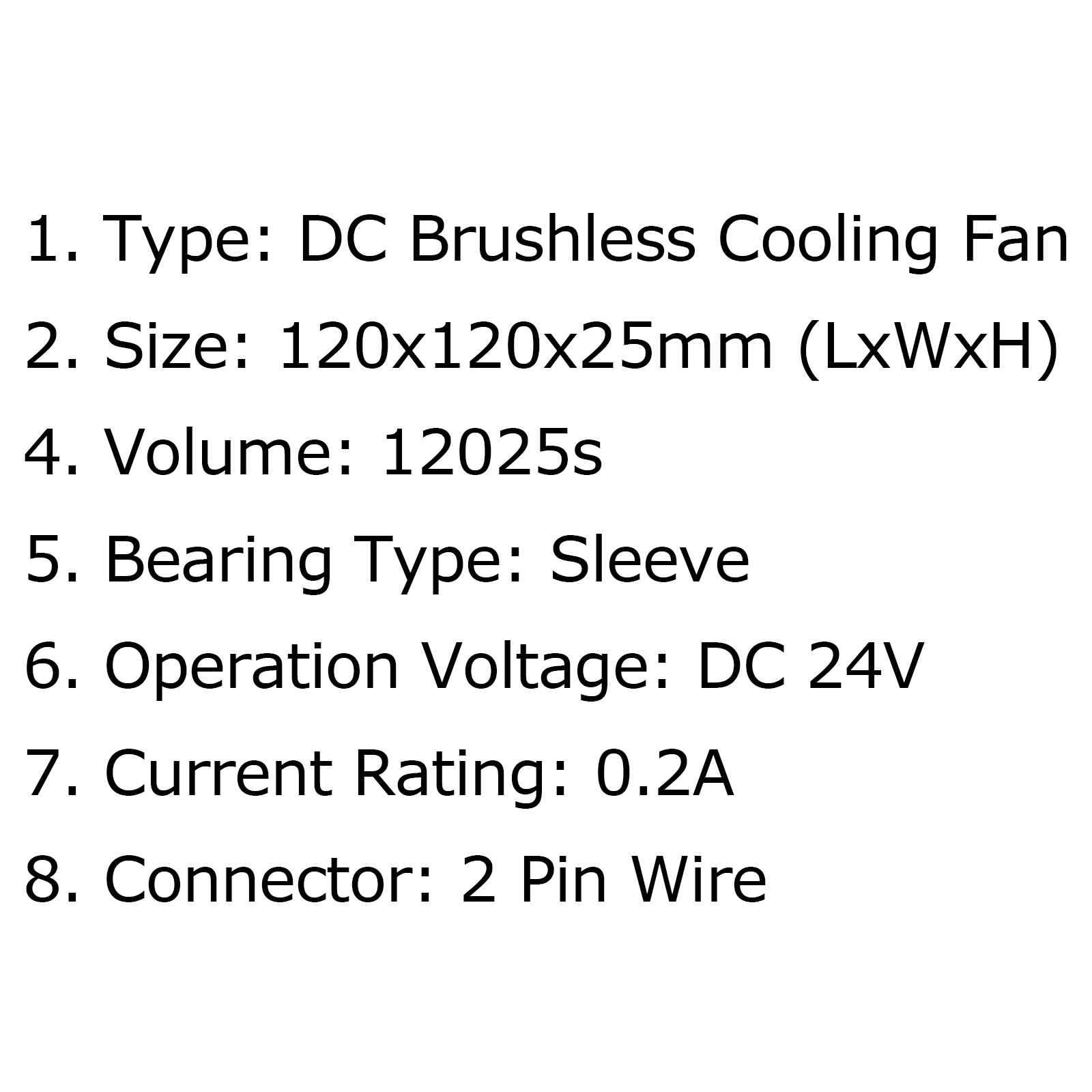 Dc Brushless Cooling Blower Fan 24v 0 2a S