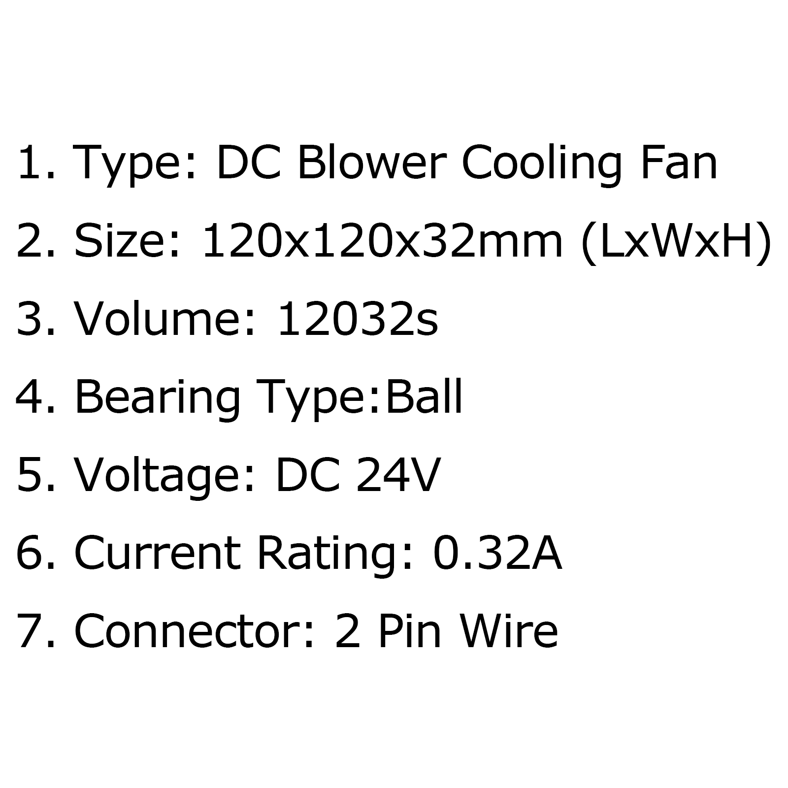 Blower Cooling Computer Brushless Fan 24v 0 32a S