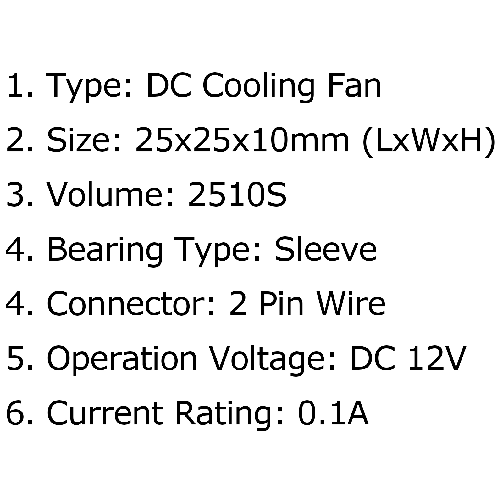 1x Dc Brushless Cooling Pc Computer Ventilateur 12v 0 1a