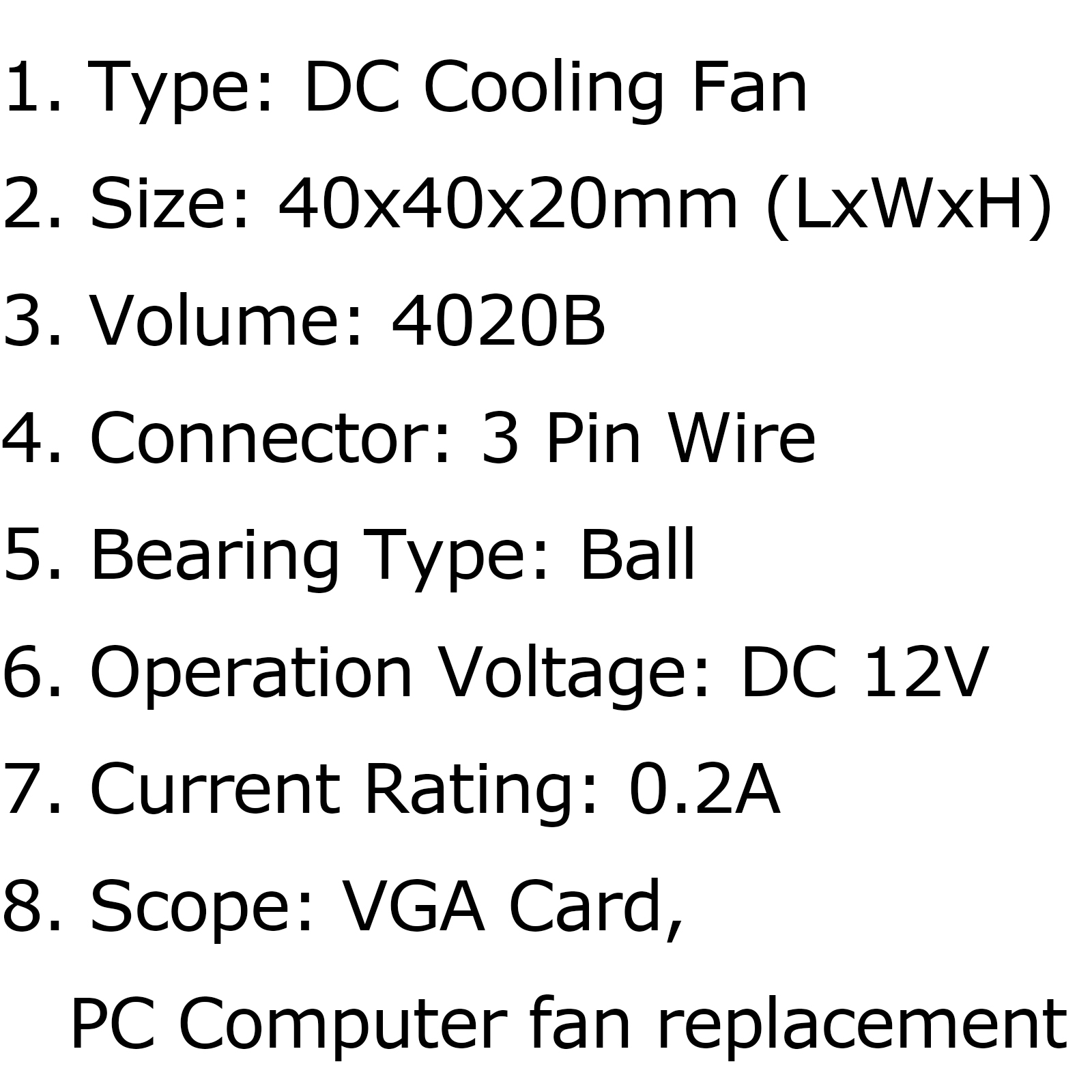 Dc Brushless Cooling Pc Computer Fan 12v 0 2a B