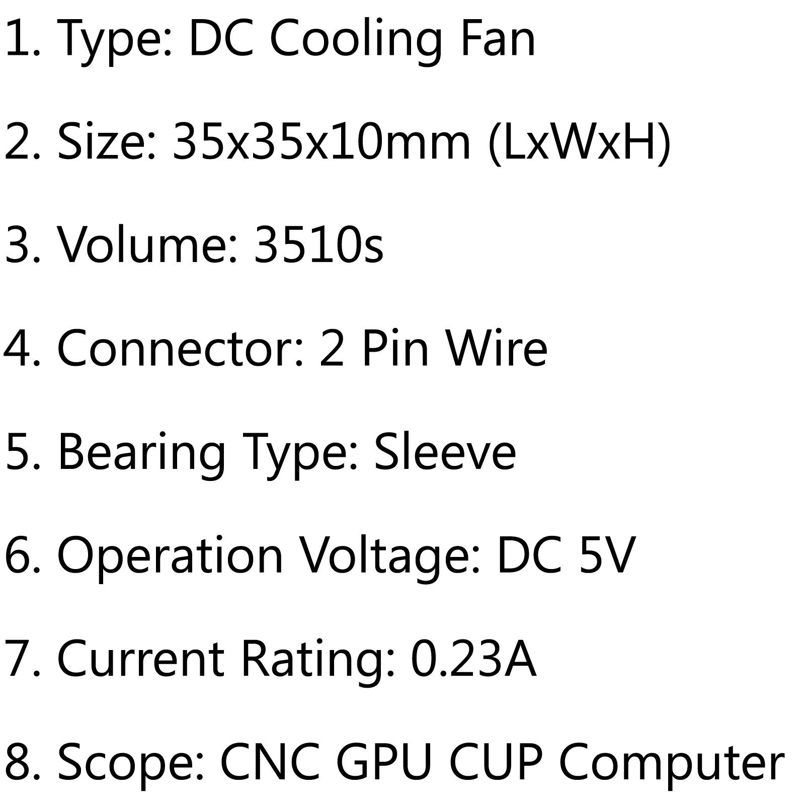 Dc Brushless Cooling Fan 5v 0 23a S 35x35x10mm 2 Pin