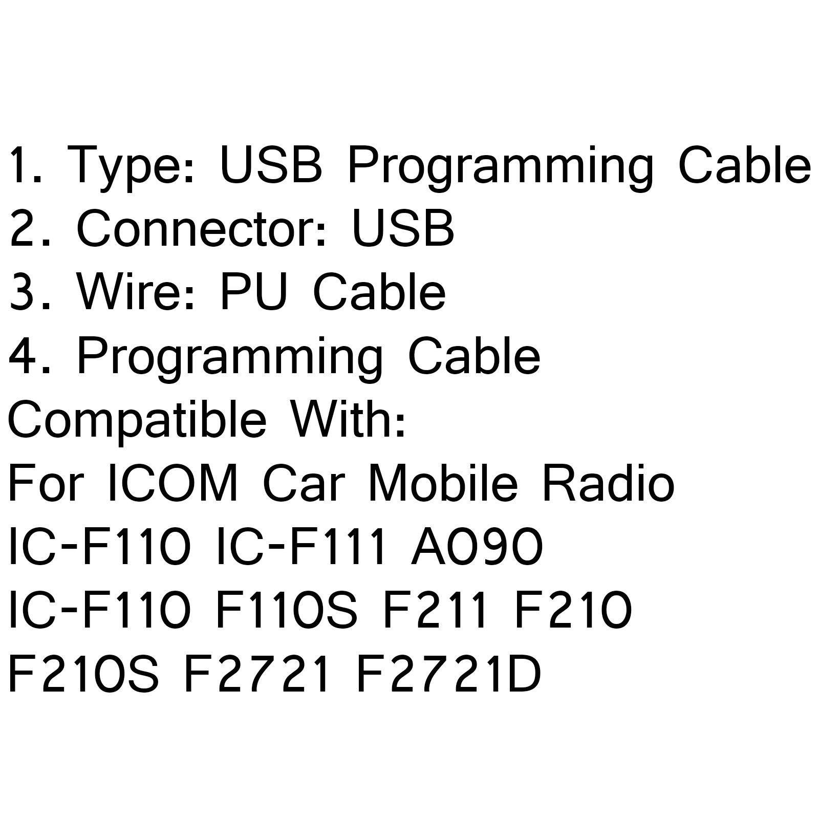 Usb Programming Cable Opc U For Icom Car Mobile Radio