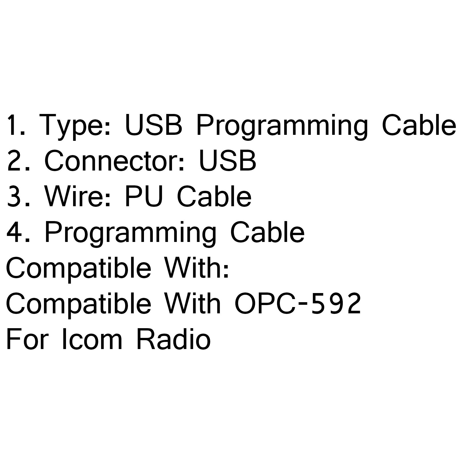 Usb Programmation Cable Opc 592 Pour Icom Ic F310 Ic F410