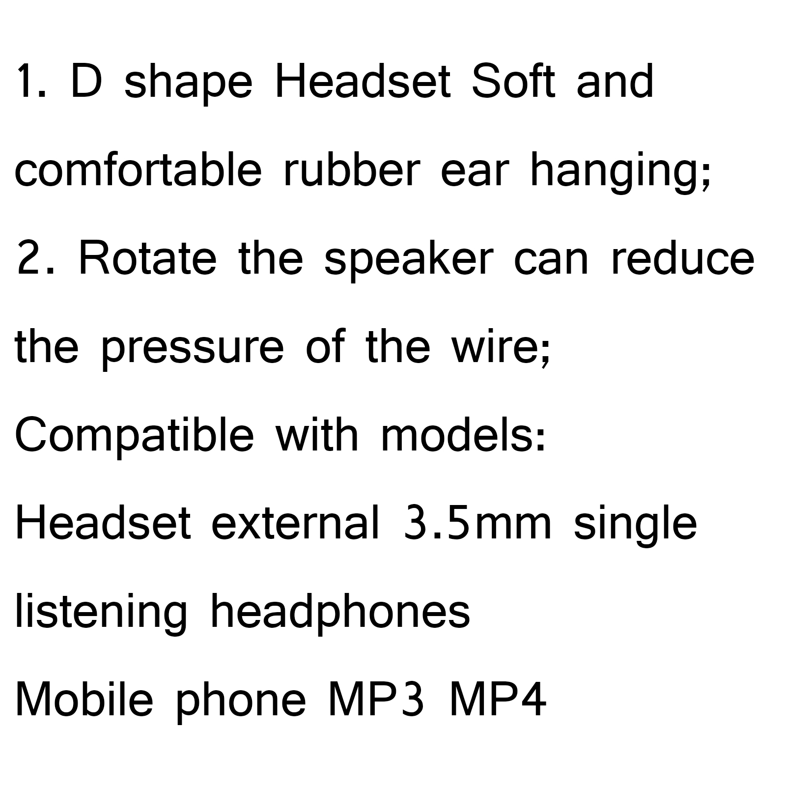 5pcs 3 5mm Curve Listen Only D Shape Headset For Radio Mic