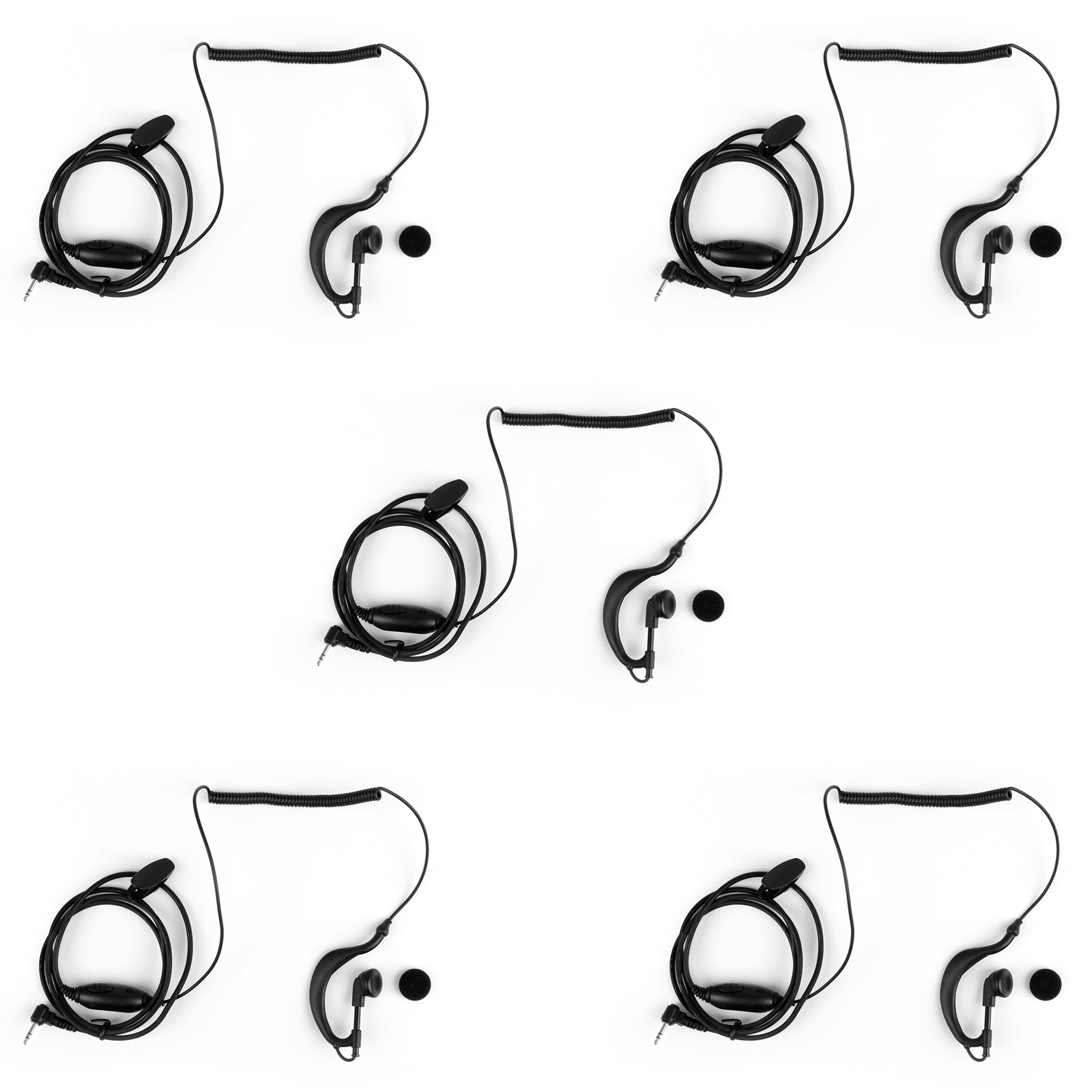 5pcs 2 5mm G Shape Curve Earpiece Headset Ptt For Motorola