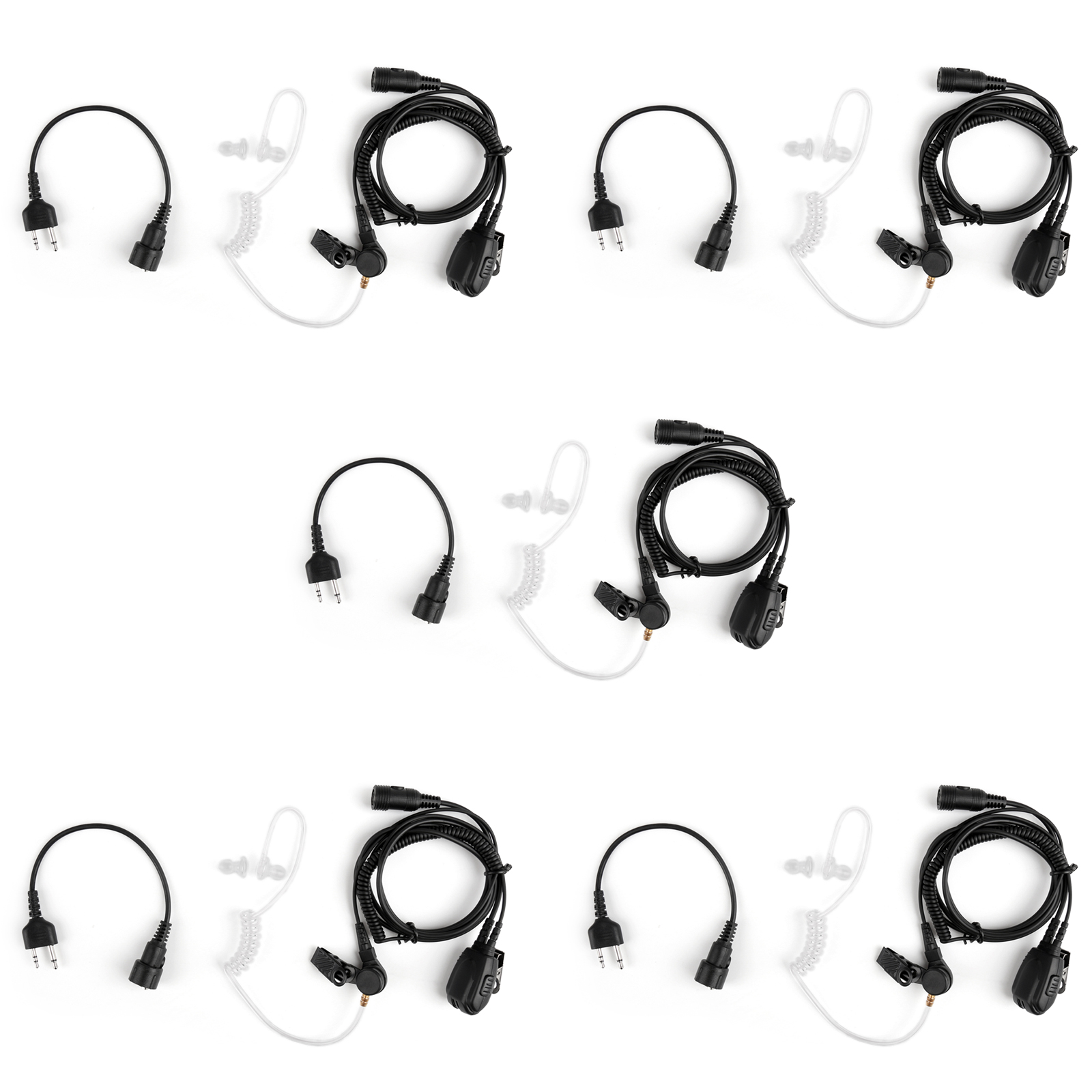 5pcs Covert Acoustic Air Tube Headset For Midland Lxt210