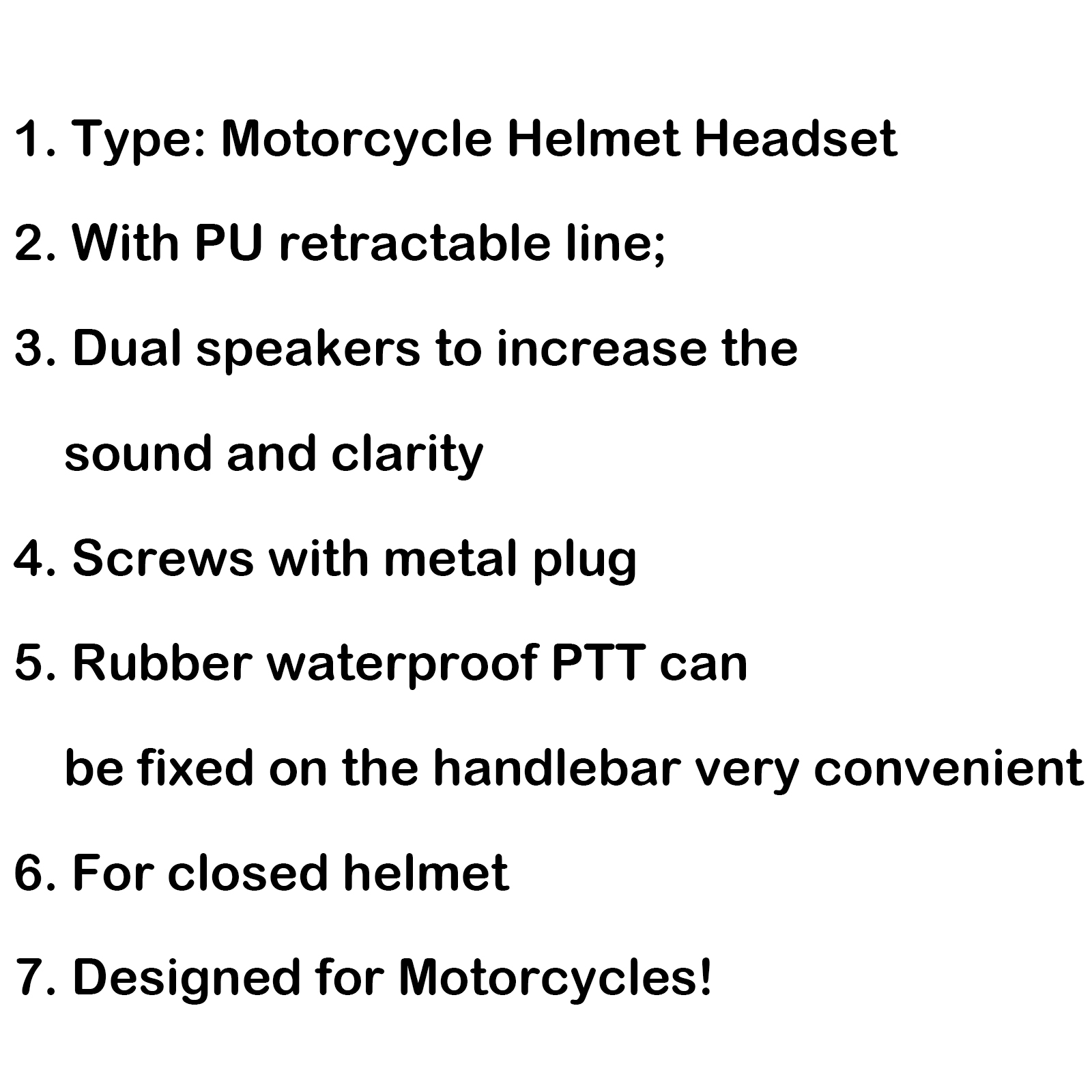 5pcs Motorcycle Helmet Headset Ptt Mic For Motorola